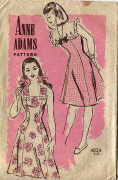 40s Dress Pattern Anne Adams 4834 Size 12 B 30 by PengyPatterns, $20.00