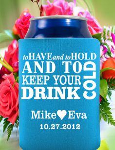 beer koozie wedding sayings | Koozie favors, any design online last updated funny knight rider 2012 ...