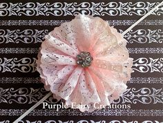 Baby Pink Lace Flower Headband by PurpleFairyCreations on Etsy