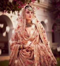 Sabyasachi just launched his 2020 new bridal collection. Sabyasachi Sultana Wedding Lehengas come in gorgeous new shades and you've got to see the dupatta! Sabyasachi Lehenga Bridal, Indian Lehenga, Pakistani Dresses, Indian Dresses, Lehenga Dupatta, Bollywood Saree, Bollywood Fashion, Indian Bridal Outfits, Indian Bridal Fashion