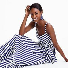 women's striped ruffle maxi dress - women's dresses