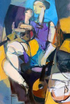 "Saatchi Art Artist Qais Al-Sindy; Painting, ""Talented Daughter"" #art"