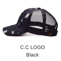 17a3bbac77b 2018 CC Ponytail Baseball Caps Cowboy Trucker Cap Band Snapback Hat Fashion  Messy Mesh Visor Sun