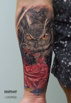 My Owl Barn: Double Exposure Tattoos by Andrey Lukovnikov
