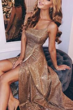 Sparkling Sling With A Slit Dress ?Name Sparkling sling with a slit dress Brand Corebeau SKU EV A Line Prom Dresses, Ball Dresses, Homecoming Dresses, Women's Dresses, Wedding Dresses, Sparkly Prom Dresses, Spring Dresses, Casual Dresses, Holiday Dresses