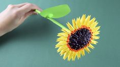 3D origami Sunflower Tutorial Assembly for beginners