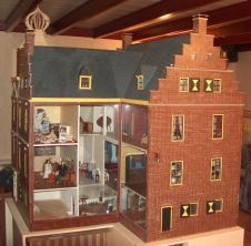 Antique Dutch dollhouse, nice style and design.  .....Rick Maccione-Dollhouse Builder www.dollhousemansions.com