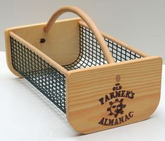 Urban Garden Design The Old Farmer's Almanac Garden Hod.such a useful pot to put things in, and beautiful too. - Garden Hods harvest and wash vegetables and fruit easily. This hod fire-branded with an Almanac Sun logo. Diy Garden Projects, Diy Pallet Projects, Decoration Palette, How To Wash Vegetables, Pallet Boxes, Harvest Basket, Palette Diy, Old Farmers Almanac, Pallets Garden