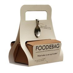 Foodiebag - to promote doggy bags and stop spilling food in restaurants.