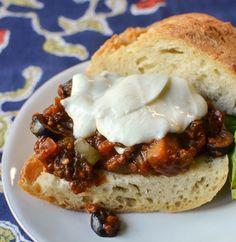 Recipe: Eggplant Caponata Sandwiches with Mozzarella & Basil —  Recipes from The Kitchn