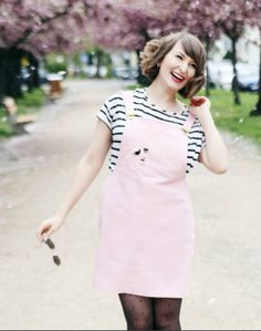Lisa's Cleo dungaree dress - sewing pattern by Tilly and the Buttons