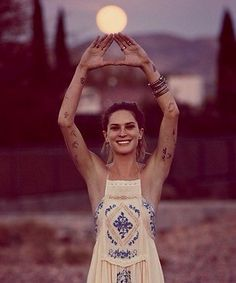 Obsessed with Erin Wasson's arm tattoos. Free People March 2014 catalog.