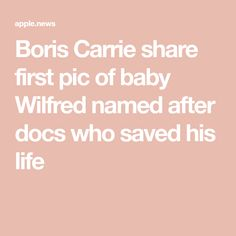 Boris and Carrie share first pic of baby Wilfred named after docs who saved PM — The Sun Named After, Boris Johnson, One Pic, Carrie, Carry On, Names, Baby, Life, Hand Luggage