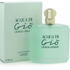 Acqua di Gio Giorgio Armani for women  This fragrance was inspired by Armani's' holiday spent on the isle of Pantelleria. It  perfectly harmonizes aquatic notes with sweet and fruity notes of muscat grapes from Pantelleria, blending them successfully with the freshness of pineapple and citrus notes. Watermelon blends nicely with the notes of freesia, hyacinth and ylang-ylang. The warm, woody and musky base note remind of the Mediterranean warm temperament. This fragrance was created in 1995.