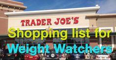 Trader Joe's shopping list for Weight Watchers