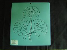 Sashiko Japanese Embroidery Stencil 8 in. Ginkgo Leaves Block/Quilting