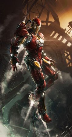 Avengers Ironman wallpaper for iPhone 5/5s, iPhone 6/6 Plus. Tap to see more Avengers Movie 2 iPhone wallpapers! - @mobile9 #marvel #superheroes