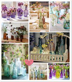 bottle centerpieces