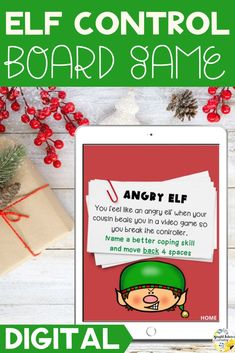 Help students learn self-control strategies with the elves! This Christmas themed self-control board game allows students to discuss strong feelings and identify self-control coping strategies. #brightfuturescounseling #elementaryschoolcounseling #elementaryschoolcounselor #schoolcounseling #schoolcounselor #christmasactivitiesforkids #holidayactivitiesforkids #selfcontrol #selfcontrolforkids #selfcontrolactivitesforkids #selfcontrolgames Elementary School Counselor, School Counseling, Elementary Schools, Counseling Activities, Therapy Activities, Therapy Ideas, Holiday Activities For Kids, Children Activities, Strong Feelings