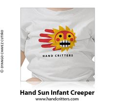 Hand Sun #Infant Creeper. Available at the Hand Critter store: http://www.handcritters.com/hand-critter-infant-creepers/ #handcritters #baby