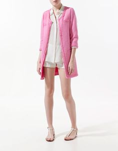 Just purchased this Zara pink coat Blazers For Women, Coats For Women, Tweed Coat, Get Dressed, Spring Summer Fashion, Style Inspiration, Outfits, My Style, How To Wear
