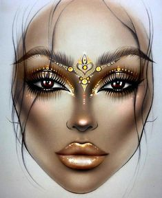 New Makeup Artist Illustration Face Charts Ideas New Makeup Artist Illustration Face Charts IdeasYou can find Face charts and more on our . Lime Crime Makeup, Looks Halloween, Halloween Face Makeup, Mac Face Charts, Makeup Illustration, Makeup Face Charts, Makeup Drawing, Makeup Wallpapers, Makeup Goals