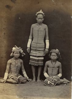Ladies of Suphanburi, Thailand circa 1889
