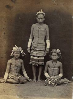 Ladies of Suphanburi, Thailand circa 1889