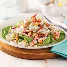 Salade de goberge et coeurs de palmier - Soupers de semaine - Recettes 5-15 - Recettes express 5/15 - Pratico Pratique