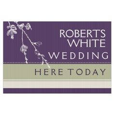Modern Fall Custom Wedding Yard Sign