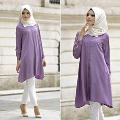 Neva Style - Tunic - 5069LILA #hijab #naylavip #hijabi #hijabfashion #hijabstyle #hijabpress #muslimabaya #islamiccoat #scarf #fashion #turkishdress #clothing #eveningdresses #dailydresses #tunic #vest #skirt #hijabtrends