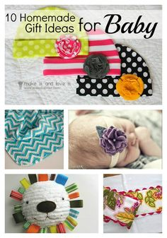 10 Homemade Baby Gift Ideas-love the lion
