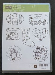 Gift Givers stamp set is retired, but available on eBay. There's a matching punch for every image, so get those tags made quickie quickie!