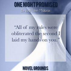 One Night Promised By Jodi Ellen Malpas