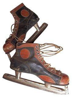 1950s leather ice hockey skates - $125.