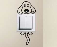 For light switch decal puppy make several color choices of vinyl