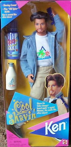 Shaving Ken from the 90s. I still have him around here somewhere in a bin!! haha
