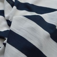 Fine Viscose Jersey - Pierre - Navy white stripe -cu