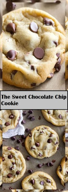 The Sweet Chocolate Chip Cookie Cake Chocolate, Chocolate Desserts, Chocolate Chips, Chocolate Chip Cookies, Popular Recipes, New Recipes, Vegan Recipes, Cooking Recipes, Healthy Desserts