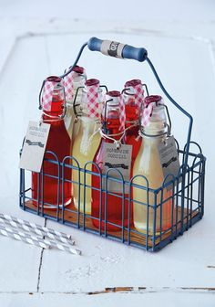 Fresh & fruity homemade cordials