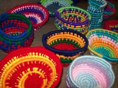 middle school fiber art vessels