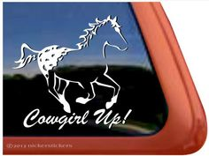 Amazon.com: Cowgirl Up! ~ Appaloosa Horse Trailer Vinyl Window Decal Sticker…