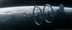 Realistic Spaceship Illustrations • Planet Green Valley ©2014 Wei Weihua Some...