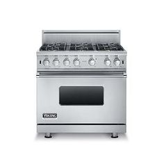 "Viking 36"" Dual-Fuel Range VDSC5366BSS 6 Burners Only 1 Special Closeout"