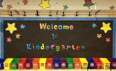 Organized kindergarten classroom!  This is a great idea for the super long shelves I have in my class
