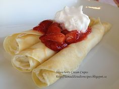 Strawberry Cream Crepes