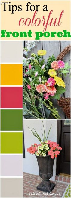 DIY tips for adding color to your front porch - Summer flower decorating