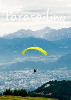 Parasailing above the clouds Parasailing, Above The Clouds, Mountains, Sport, Nature, Travel, Villach, Deporte, Naturaleza