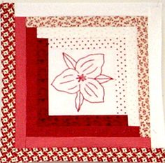 redwork quilts | Quilt Something! Redwork Block of the Month Club