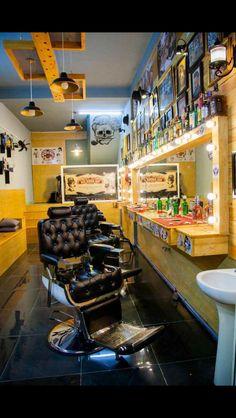 Two Cuts riverbank Modern Barber Shop, Barber Shop Interior, Barber Shop Decor, Hair Salon Interior, Tony Barber, Barber Equipment, Barbershop Design, Salon Business, Barber Chair
